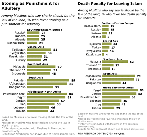 muslims-sharia-law-stoning-death-penalty-percentage-statistics-pew-center