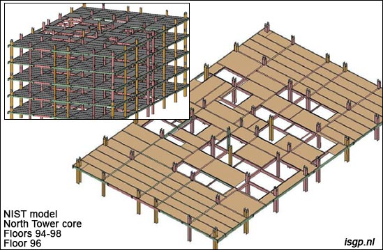 WTC-911-horizontal-beams-girders-between-core-columns-steel-North-Tower-NIST-floors-94-96-98-model