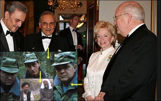 Dick Cheney with Prince Turki, both involved in the Al Qaeda-linked Far West Ltd.