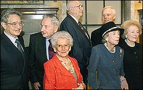 George Soros, David Rockefeller, Bill Gates Sr., Ted Turner, Brooke Astor, Annenberg widow