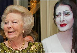 Marina Abramovic with Queen Beatrix in 2012.