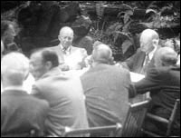 Presidents Eisenhower and Herbert Hoover and the Bohemian Grove.
