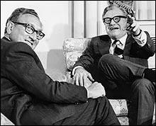 Henry Kissinger and Nelson Rockefeller