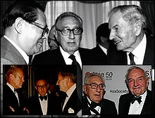 David Rockefeller and Henry Kissinger, friends through the decades.