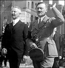 Hitler with Hjalmar Schacht