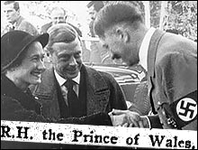 Hitler with the Duke of Windsor, a former Pilgrim as the Prince of Wales, and Wallis Simpson