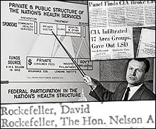 Nelson Rockefeller in the know of the CIA's MKULTRA program.