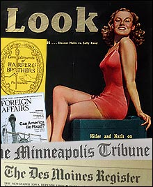 Look magazine and other old Pilgrims Society-linked publications.